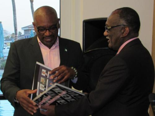 Hon Dr  Hubert Minnis and Prof Horace Fletcher